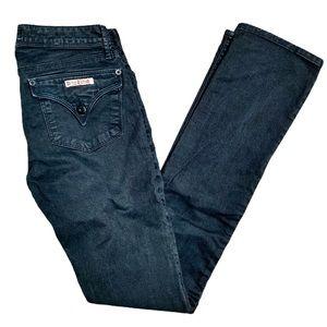 Hudson jeans black straight leg size 26